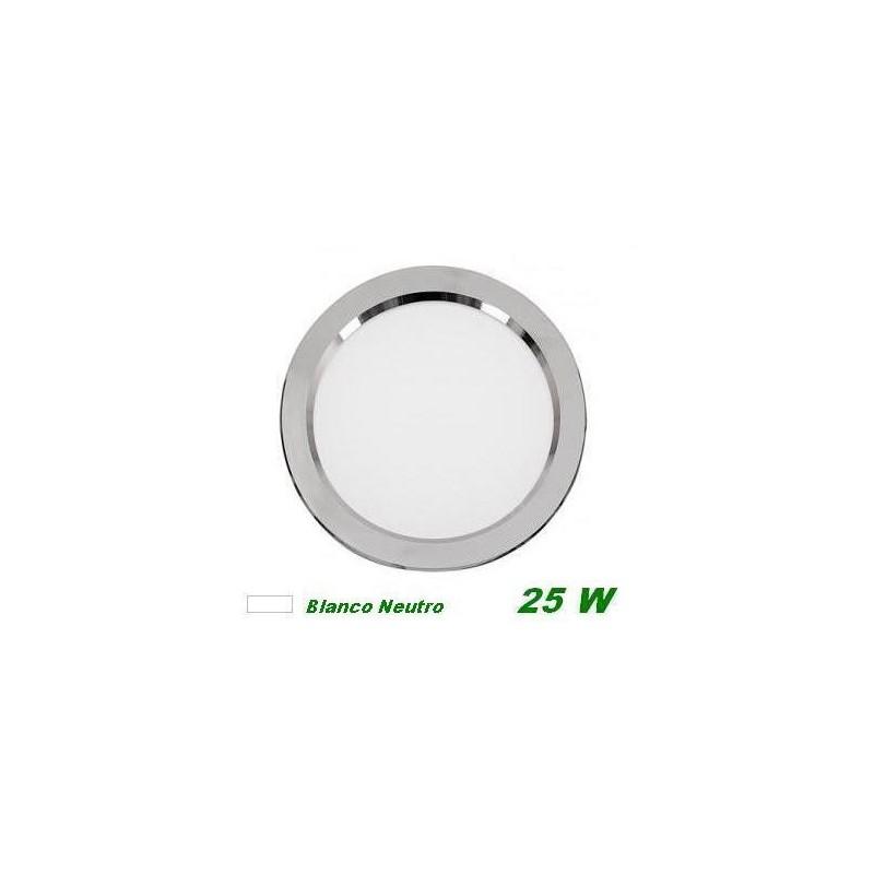 Downlight Led 25w empotrar plata luz blanco neutro 4000K Cifralux 102320NP