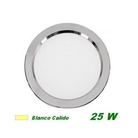 DOWNLIGHT LED 25W EMPOTRAR PLATA LUZ CALIDA CIFRALUX 102320C