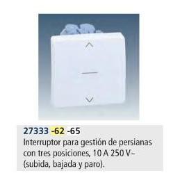 Interruptor persiana 3 posiciones ancho marfil Simon 27333-62