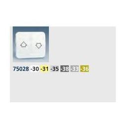 Tecla grupo 2 pulsadores persiana ancha marfil Serie 75 Simon 75028-31