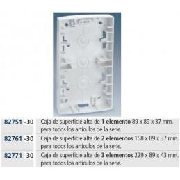 Caja superficie 2 elementos blanca para mecanismos Serie 82 Simon 82761-30