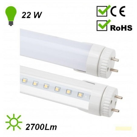 TUBO DE LED 23W LUZ BLANCO CALIDO 1500mm T8 115 SMD2835 ECOLINE