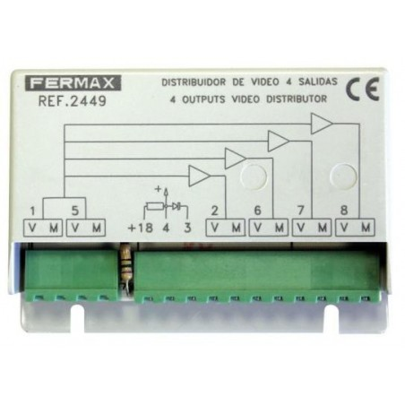 DISTRIBUIDOR DE VIDEO 4 SALIDAS FERMAX 2449
