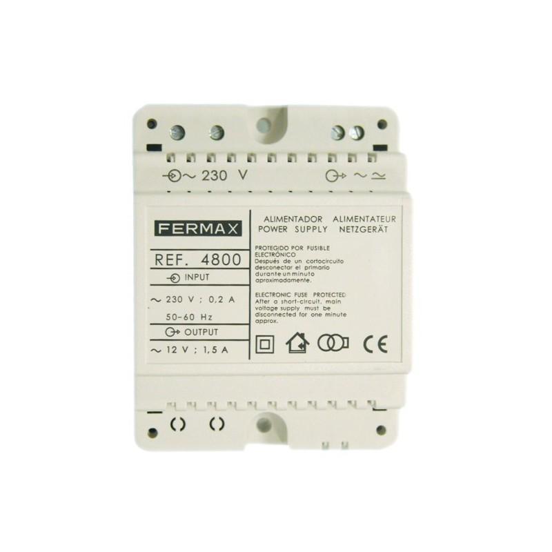 ALIMENTADOR 230VAC 12VAC 1.5AMP DIN4 FERMAX 4800