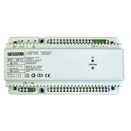 ALIMENTADOR DIN10 230VAC/12VAC+18VDC 1,5A FERMAX 4810