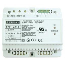 ALIMENTADOR DIN6 100-240VAC/18VDC-1,5A FERMAX 4812