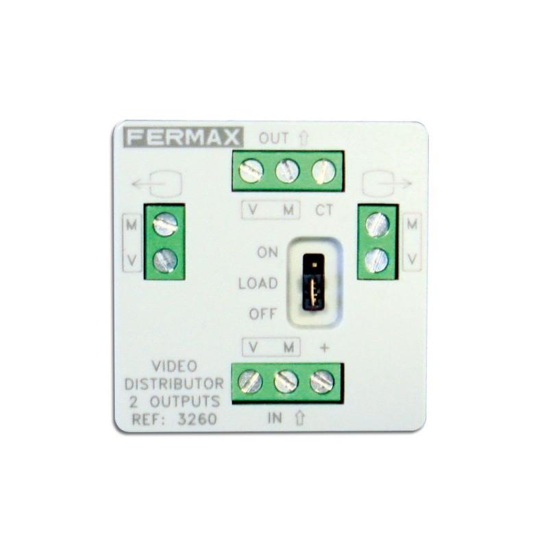 Mini distribuidor de video 2 salidas Fermax 3260