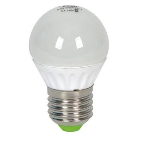 LAMPARA ESFERICA LED 5.5W 230V E27 450LUM LUZ  BLANCO NEUTRO 4200K ILOGO L5W1P452CW