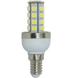 Bombilla led panocha 5w 230v E14 450lum luz blanco calido 2900-3100k Agfri 4043