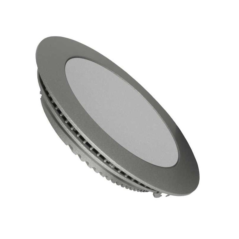 Downlight Led Redondo 25w Aro Plata Luz Blanco Neutro 4200-4400ºK Agfri 3315
