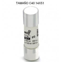 Fusible C40 14x51 50Amp cilindrico ceramico