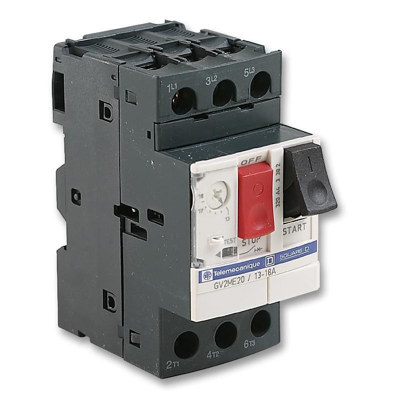 Disyuntor Guardamotor regulable de 13 a 18 Amp GV2ME20 Telemecanique