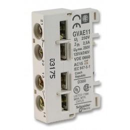 Bloque de contactos auxiliar 1NA 1NC GVAE11 Telemecanique