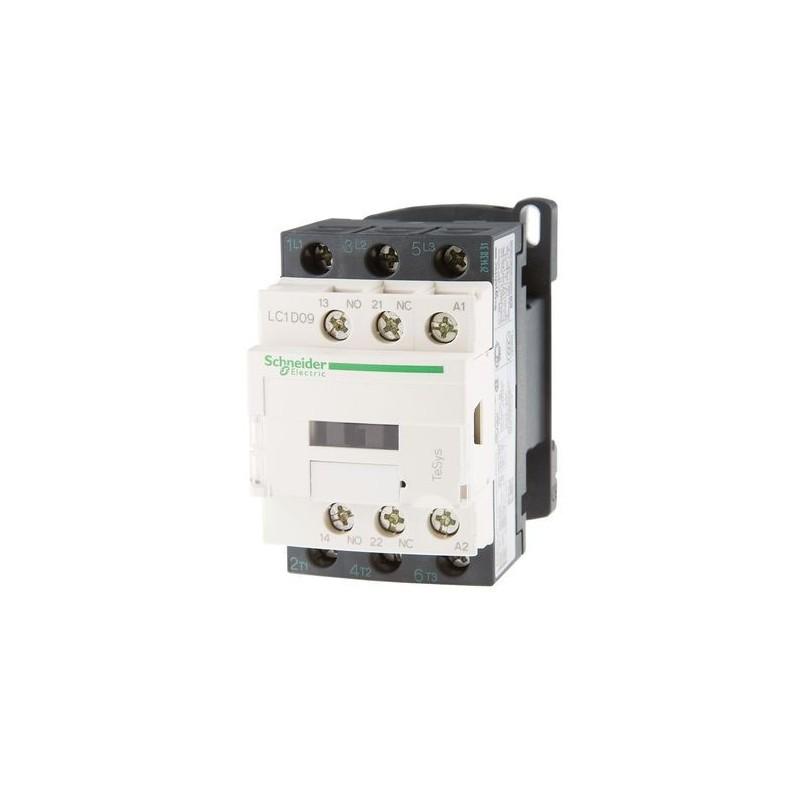 Contactor riel 3 polos 9Amp 1NA 1NC 230V Telemecanique LC1D09P7