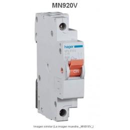 Magnetotermico estrecho 1P+N 20A Curva C 6KA Hager MN920V