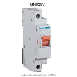 Magnetotermico estrecho 1P+N 25A Curva C 6KA Hager MN925V