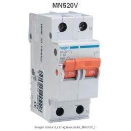 Magnetotermico 1P+N 20A Curva C 6KA Hager MN520V
