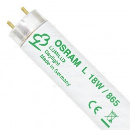 25 Tubos fluorescentes Lumilux 18w 865 Luz Blanco Frio Osram 517773