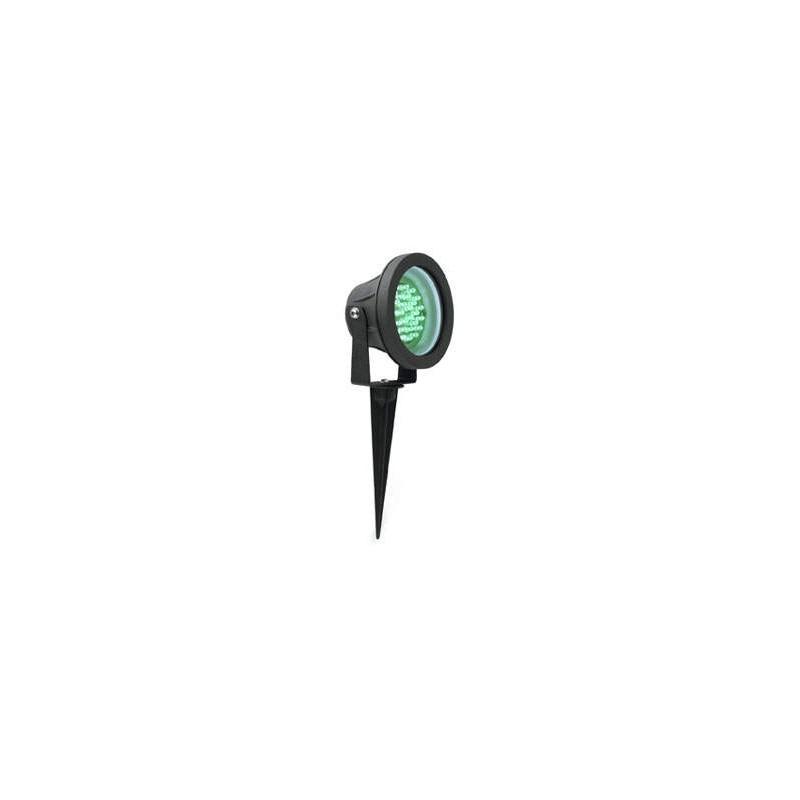 Piqueta Led Verde Orientable para Jardin Negra Faro 70535