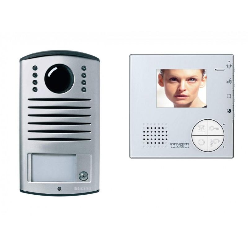 Videoportero color 1 linea 2 hilos manos libres placa calle superficie L2000 Tegui 376211