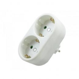 Adaptador schuko macho a 2 schuko hembras 16A Silver Electronics 49248