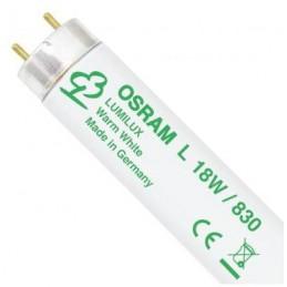 Tubo fluorescente 18w 830 Blanco Calido Lumilux Osram 517810 25 Unidades