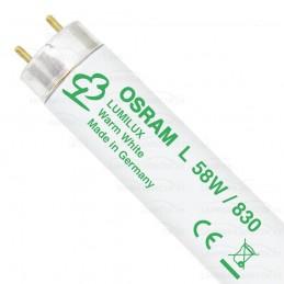 Tubo fluorescente 58w 830 Blanco Calido Lumilux Osram 517971 25 Unidades