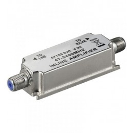 Amplificador senal satelite y MATV 20db interior vivienda