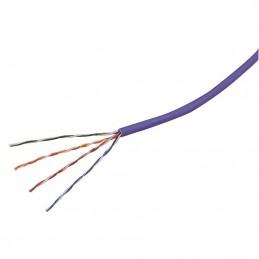 Cable de red RJ45 categoria 5e sin malla UTP 4 pares rigido 24AWG libre halogenos