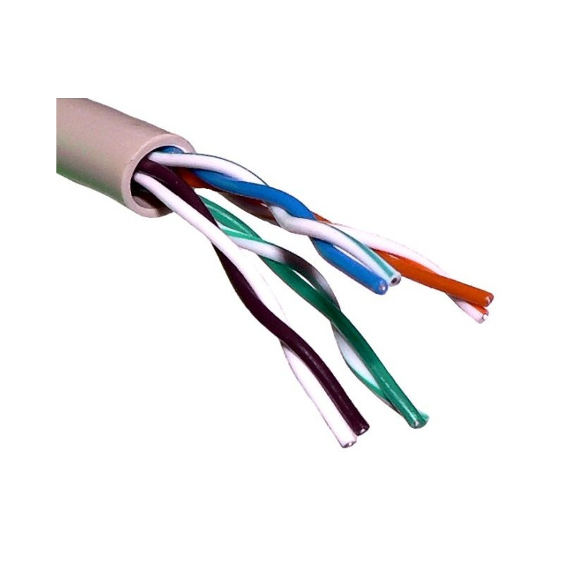 Cable de red RJ45 categoria 5e sin malla UTP 4 pares rigido 24AWG