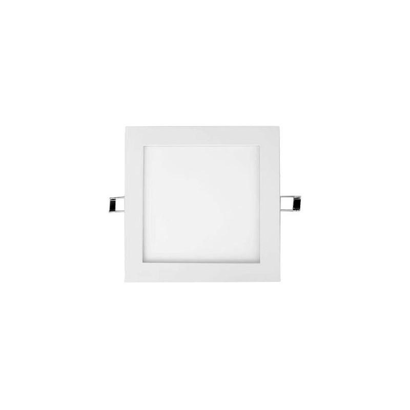 Downlight Led Cuadrado 25w Aro Plata Luz Blanco Calido 2900-3100ºK Agfri 3326
