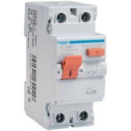 Diferencial 2P 40A 30mA Hager CD748V