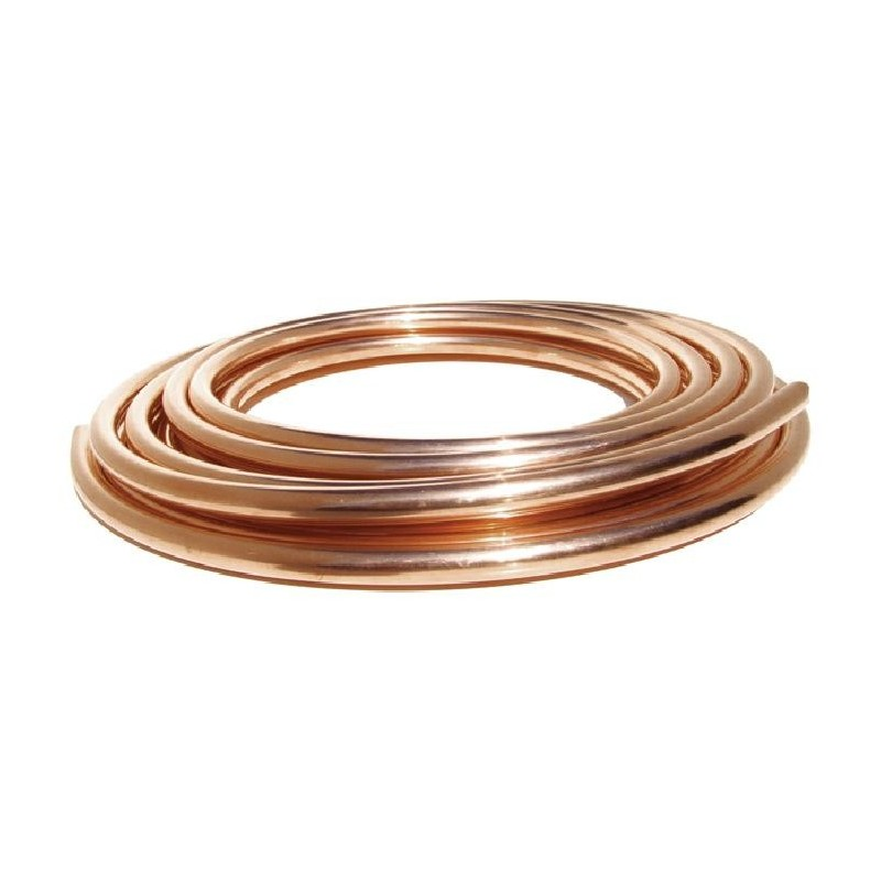 "15 Mts Tubo de cobre 1/4"" 6,35mm para aire acondicionado"