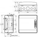 Caja automaticos superficie estanca 8 elementos Ide CDN8PT