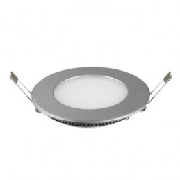 Downlight Led Redondo 4W Aro Plata Luz Blanco Calido 2900-3100ºK Bdt-Led DW80416