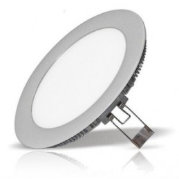 Downlight Led Redondo 20W Aro Plata Luz Blanco Calido 2900-3100ºK Bdt-Led DW82016