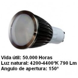 Bombilla dicroica led 5w gu10 230v 150 Grados blanco neutro 4200k 790lm Agfri 2122