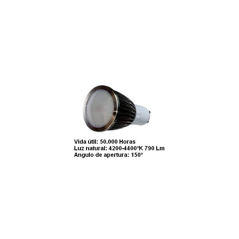 Bombilla dicroica led 5w gu10 230v 150º blanco neutro 4200k 790lm Agfri 2122