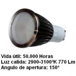 Bombilla dicroica led 5w gu10 230v 150 Grados blanco calido 2900k 770lm Agfri 2123