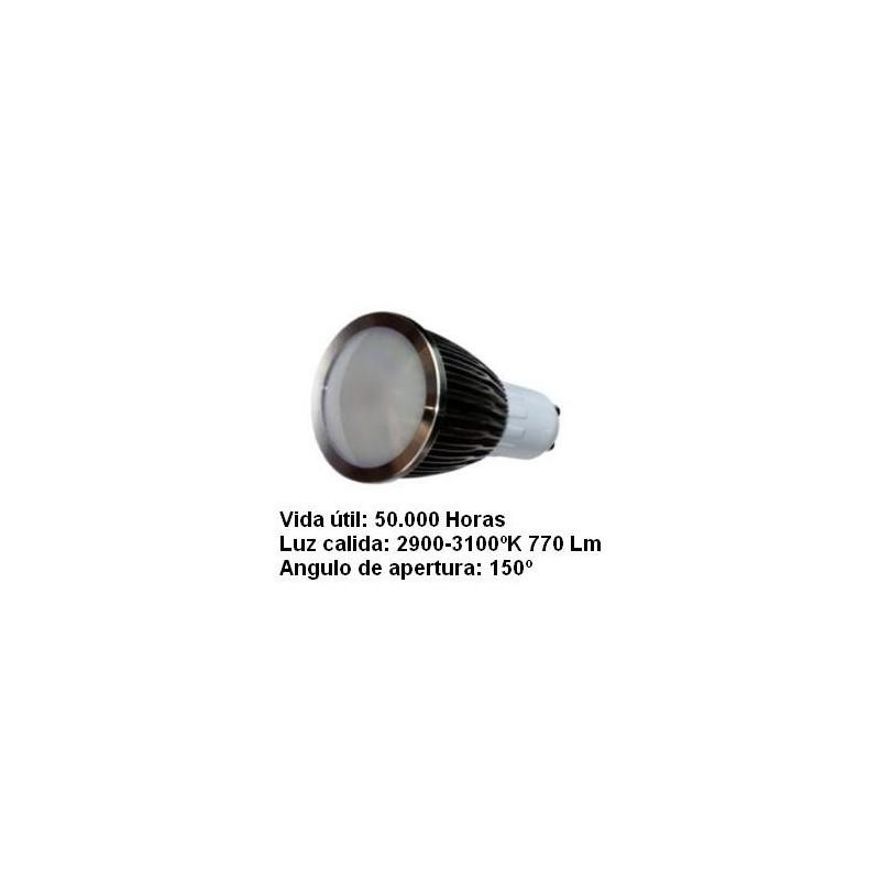 Bombilla dicroica led 5w gu10 230v 150º blanco calido 2900k 770lm Agfri 2123