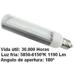 Bombilla led pl E27 7w 230v 180º blanco frio 5850-6150ºk 1190lm Bdt-Led PL7004