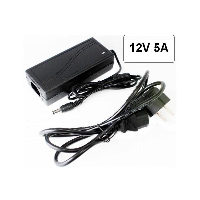 Alimentador 12v dc 5a 60w enchufable para tiras led - Alimentador 12v ...