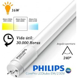 10 Tubos Led 1200mm 4000K Blanco Neutro T8 G13 Philips CorePro LEDtube 16W/840