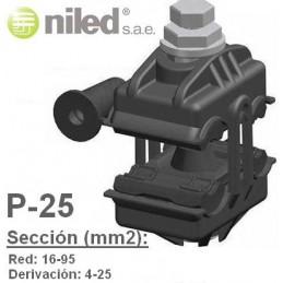 Conector P25 bimetalico aluminio cobre 16-95mm2 4-25mm2 Niled