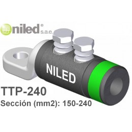 Terminal TTP-240 bimetalico redes subterraneas BT 150-240mm2 Niled