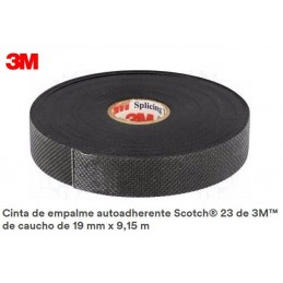 Cinta electrica autosoldable 19 mm x 9.15 m 3M SCOTH 23