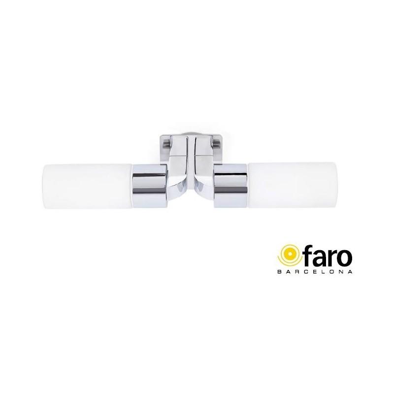 Lampara Aplique Cromo 2xE14 Max.40W Laos-2 Faro 63321