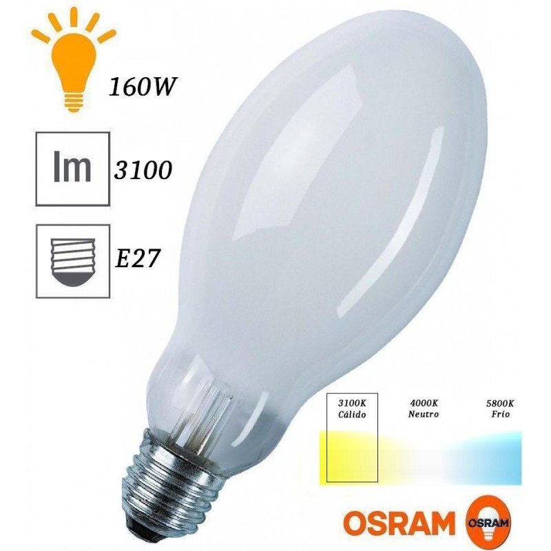 Bombilla luz mezcla HWL 160w 3100 Lumenes 225V E27 Osram 15453