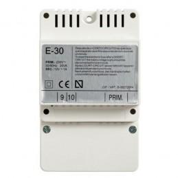 Alimentador E-30 DIN4 230-12Vac 1A Tegui 375004 para porteros 1 y 2 lineas