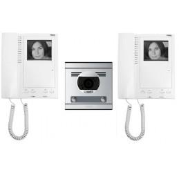 Videoportero blanco y negro 2 lineas S7 convencional Tegui 375022